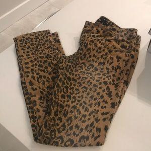 Denim - Animal print jeans size 5 ladies